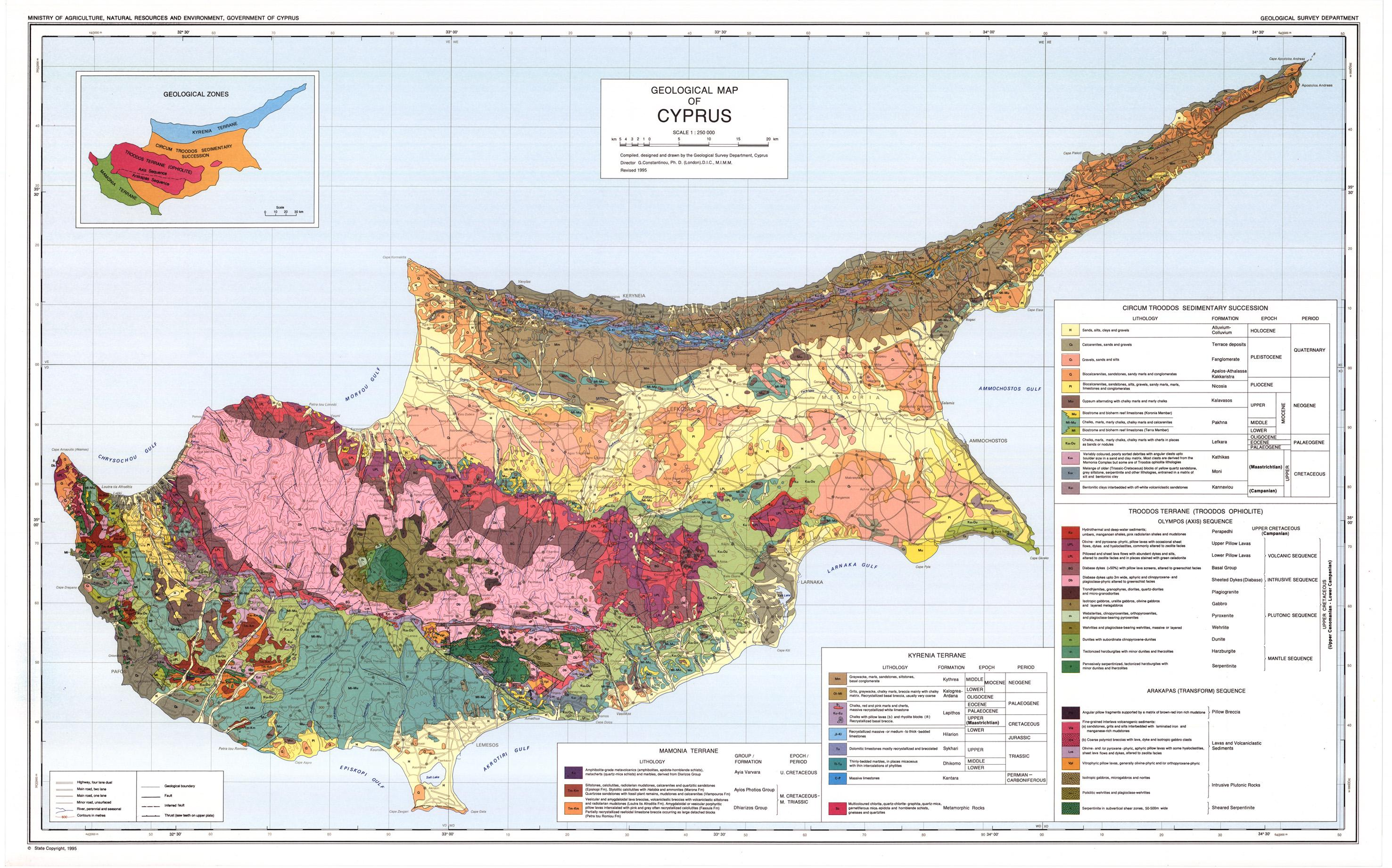 Cartina Geografica Europa Meridionale.Mappa Geologica Di Cipro Cipro Mappa Geografica Europa Del Sud Europa