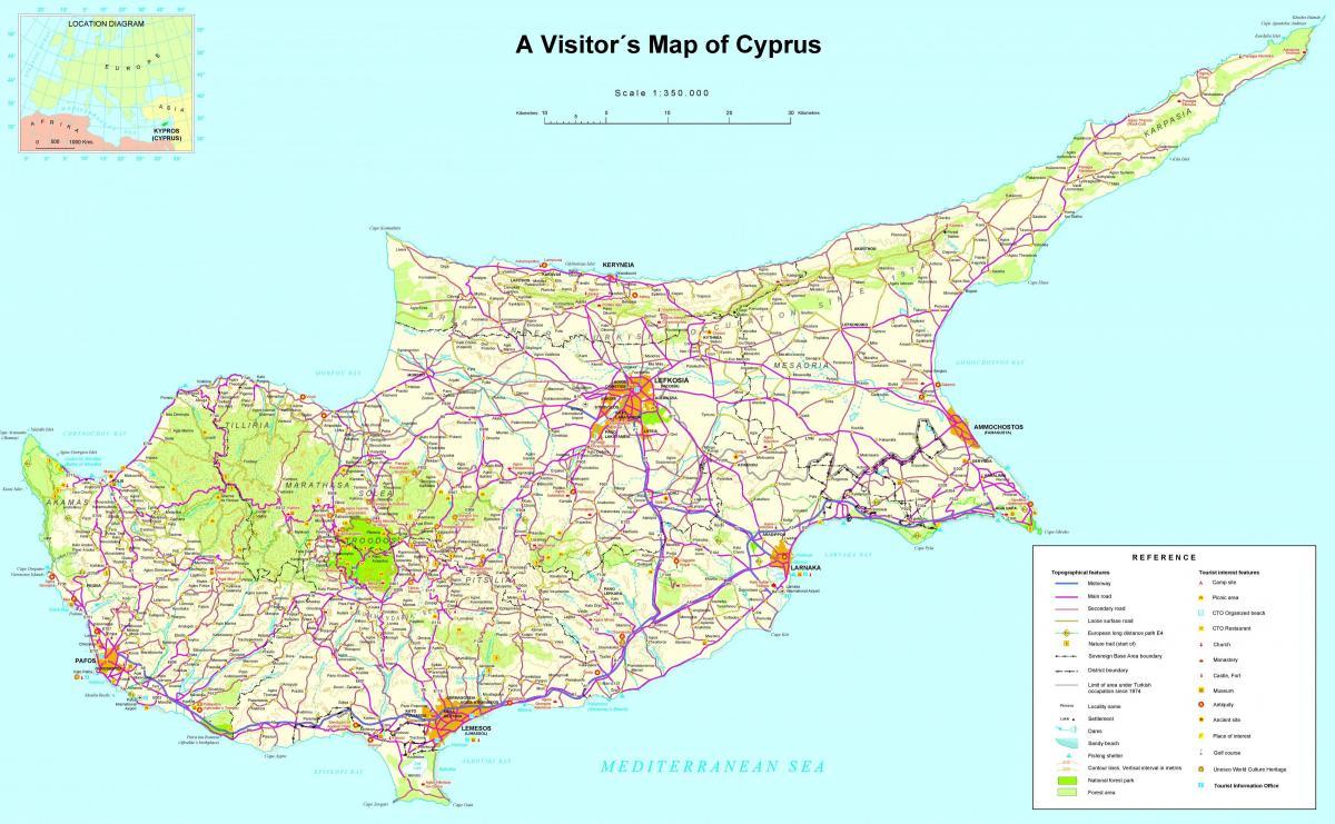 Mediterraneo Cartina.Cipro Mediterraneo Cartina Mappa Di Cipro Mediterraneo Europa Del Sud Europa